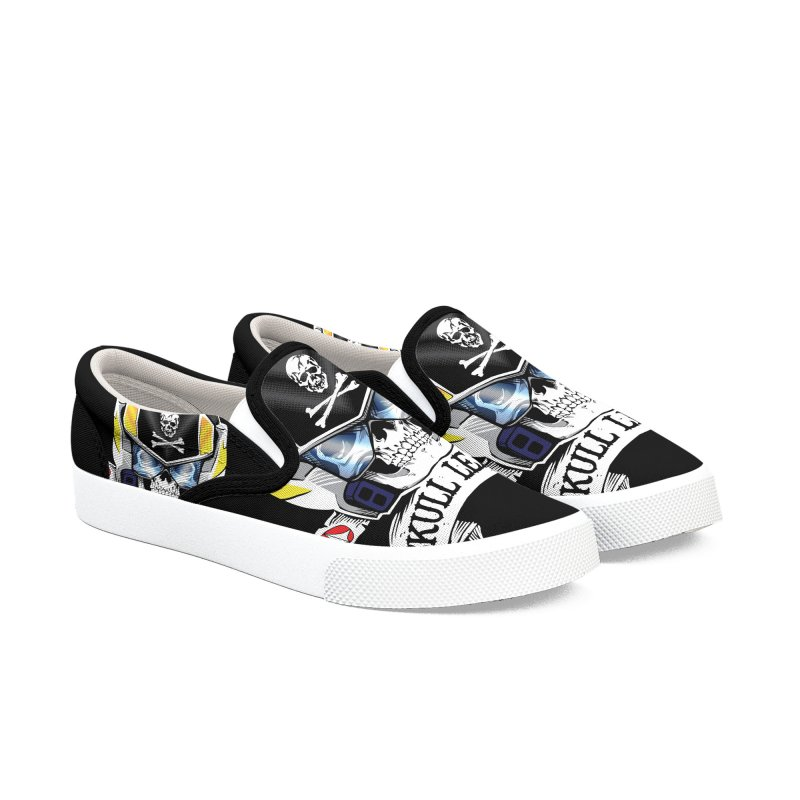 Skull Leader - Roy Focker Men's Slip-On Shoes by D4N13L design & stuff
