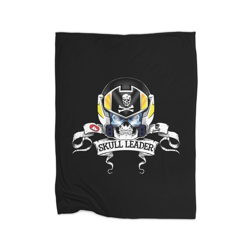Skull Leader - Roy Focker Home Fleece Blanket Blanket by D4N13L design & stuff