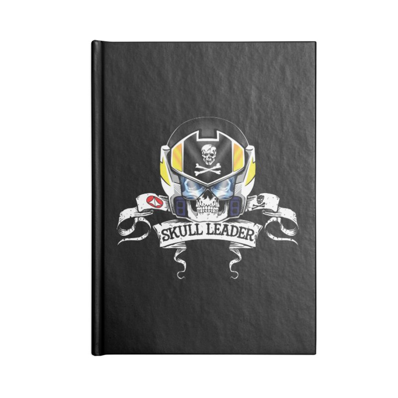 Skull Leader - Roy Focker Accessories Lined Journal Notebook by D4N13L design & stuff