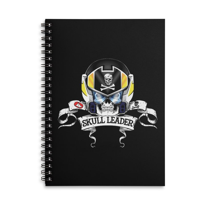 Skull Leader - Roy Focker Accessories Lined Spiral Notebook by D4N13L design & stuff