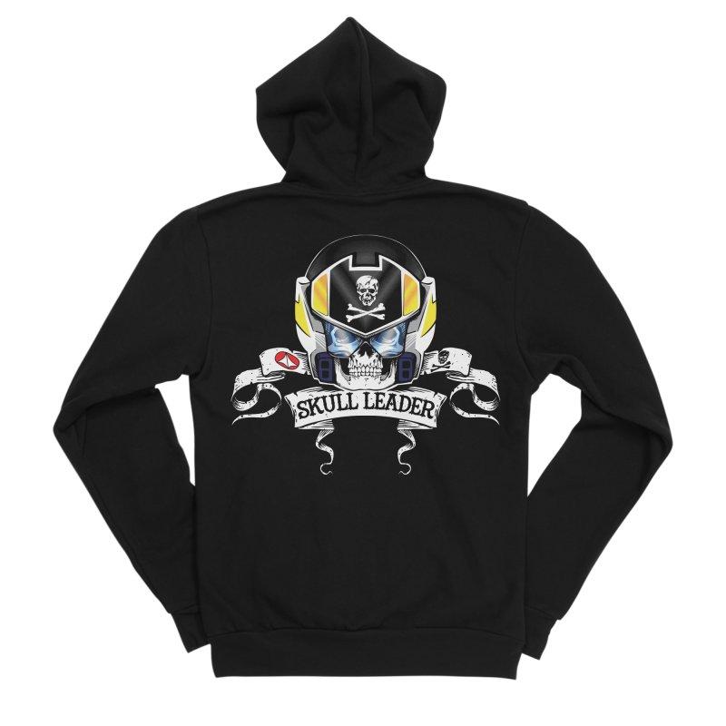 Skull Leader - Roy Focker Men's Sponge Fleece Zip-Up Hoody by D4N13L design & stuff