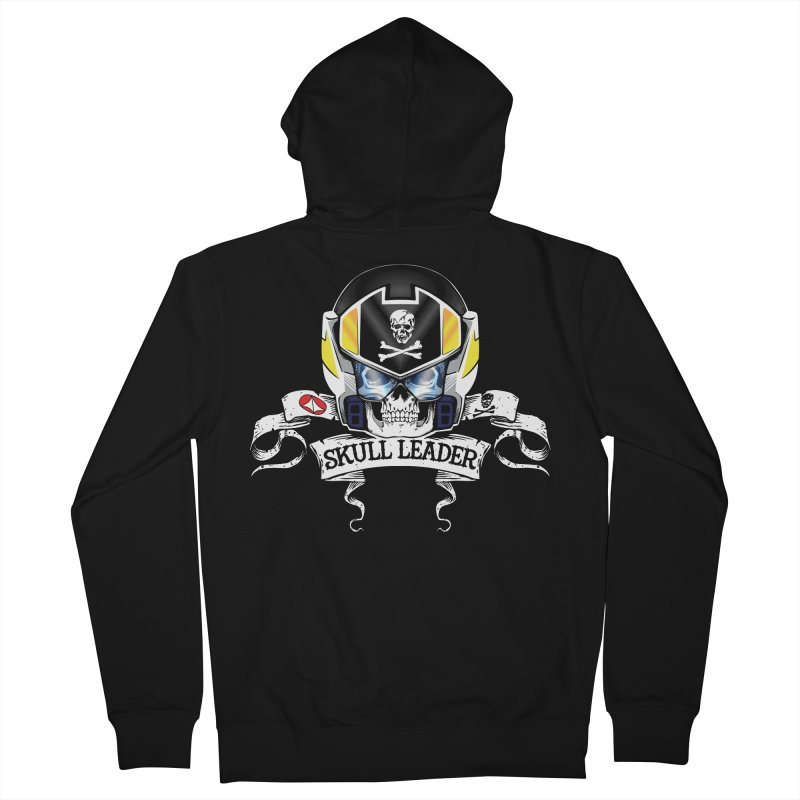 Skull Leader - Roy Focker Men's French Terry Zip-Up Hoody by D4N13L design & stuff