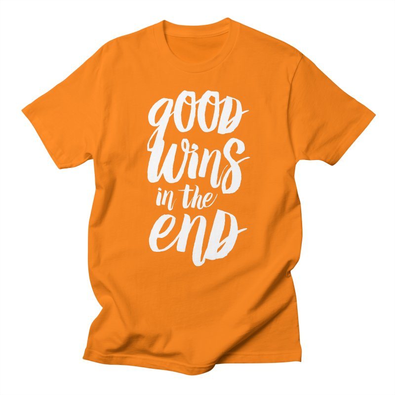 Good Wins In The End Men's Regular T-Shirt by daab Creative's Artist Shop