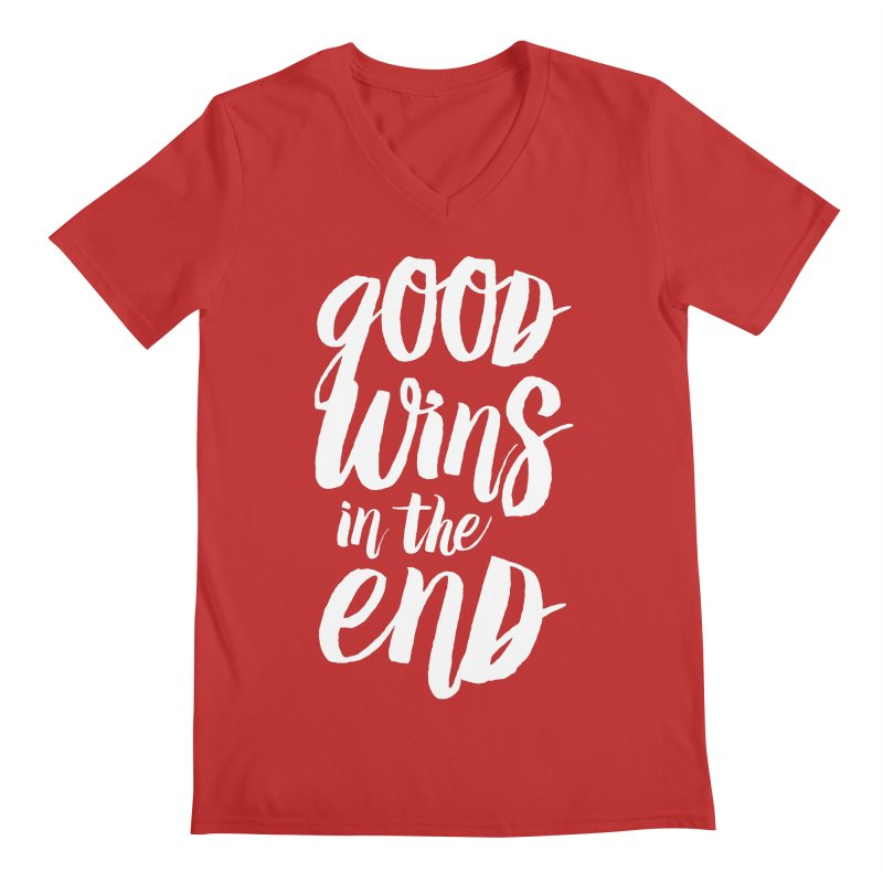 Good Wins In The End Men's V-Neck by daab Creative's Artist Shop