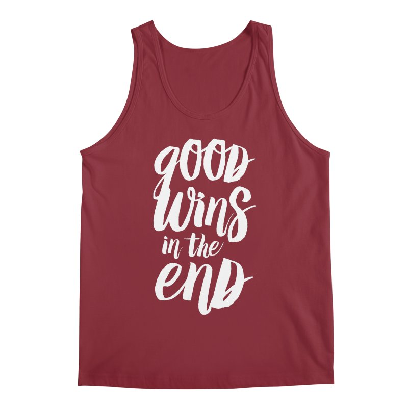 Good Wins In The End Men's Tank by daab Creative's Artist Shop
