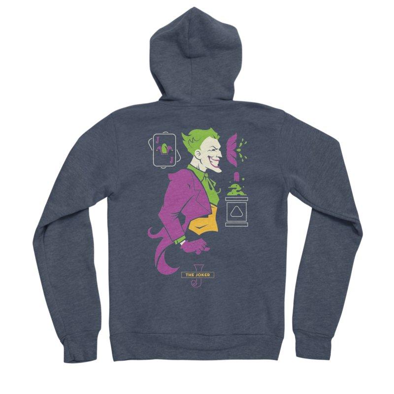 Joker - DC Superhero Profiles Women's Sponge Fleece Zip-Up Hoody by daab Creative's Artist Shop