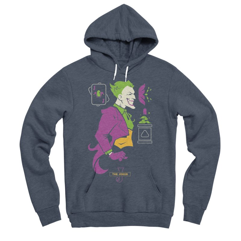 Joker - DC Superhero Profiles Men's Sponge Fleece Pullover Hoody by daab Creative's Artist Shop