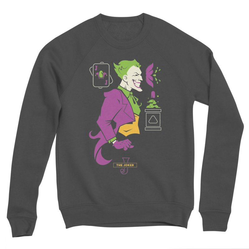 Joker - DC Superhero Profiles Women's Sponge Fleece Sweatshirt by daab Creative's Artist Shop