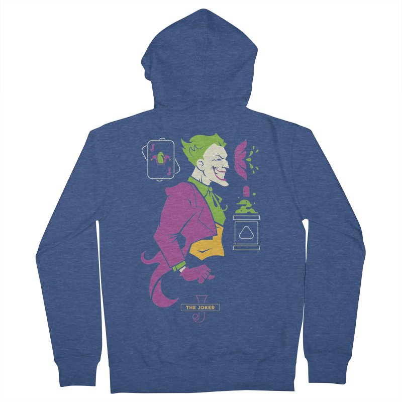 Joker - DC Superhero Profiles Men's Zip-Up Hoody by daab Creative's Artist Shop