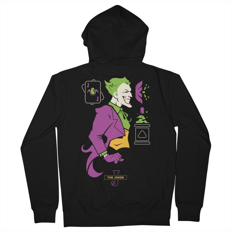 Joker - DC Superhero Profiles Men's French Terry Zip-Up Hoody by daab Creative's Artist Shop