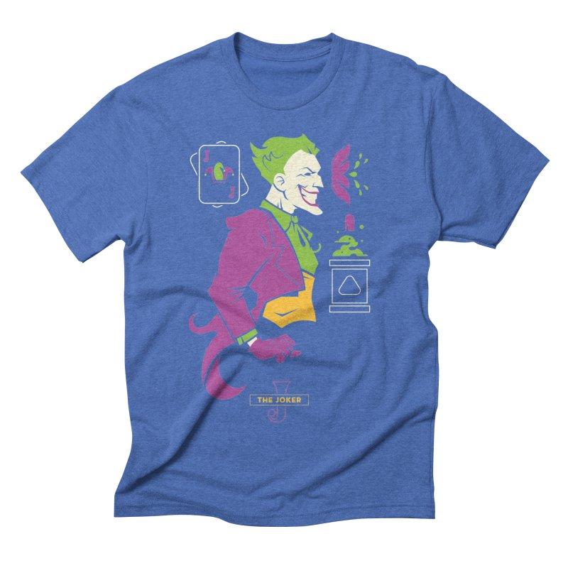 Joker - DC Superhero Profiles Men's Triblend T-Shirt by daab Creative's Artist Shop