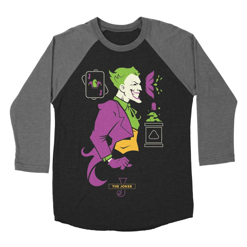 Joker - DC Superhero Profiles Women's Baseball Triblend Longsleeve T-Shirt by daab Creative's Artist Shop