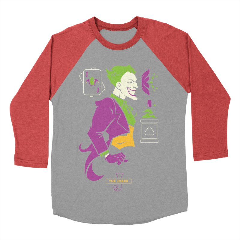 Joker - DC Superhero Profiles Men's Baseball Triblend Longsleeve T-Shirt by daab Creative's Artist Shop