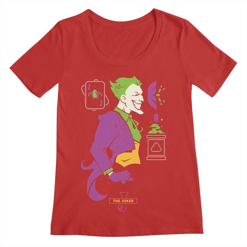 Joker - DC Superhero Profiles Women's Regular Scoop Neck by daab Creative's Artist Shop