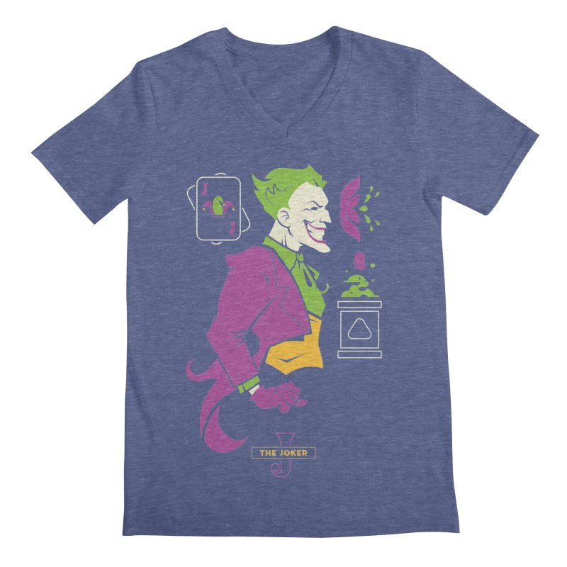 Joker - DC Superhero Profiles Men's Regular V-Neck by daab Creative's Artist Shop