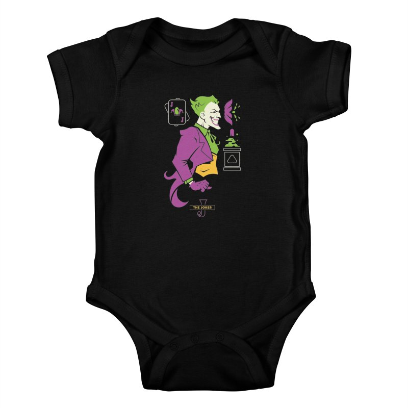Joker - DC Superhero Profiles Kids Baby Bodysuit by daab Creative's Artist Shop