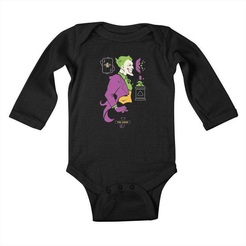 Joker - DC Superhero Profiles Kids Baby Longsleeve Bodysuit by daab Creative's Artist Shop