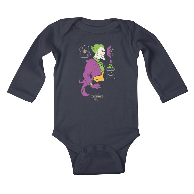 Joker - DC Superhero Profiles Kids Baby Longsleeve Bodysuit by daab Creative's Artist Shop