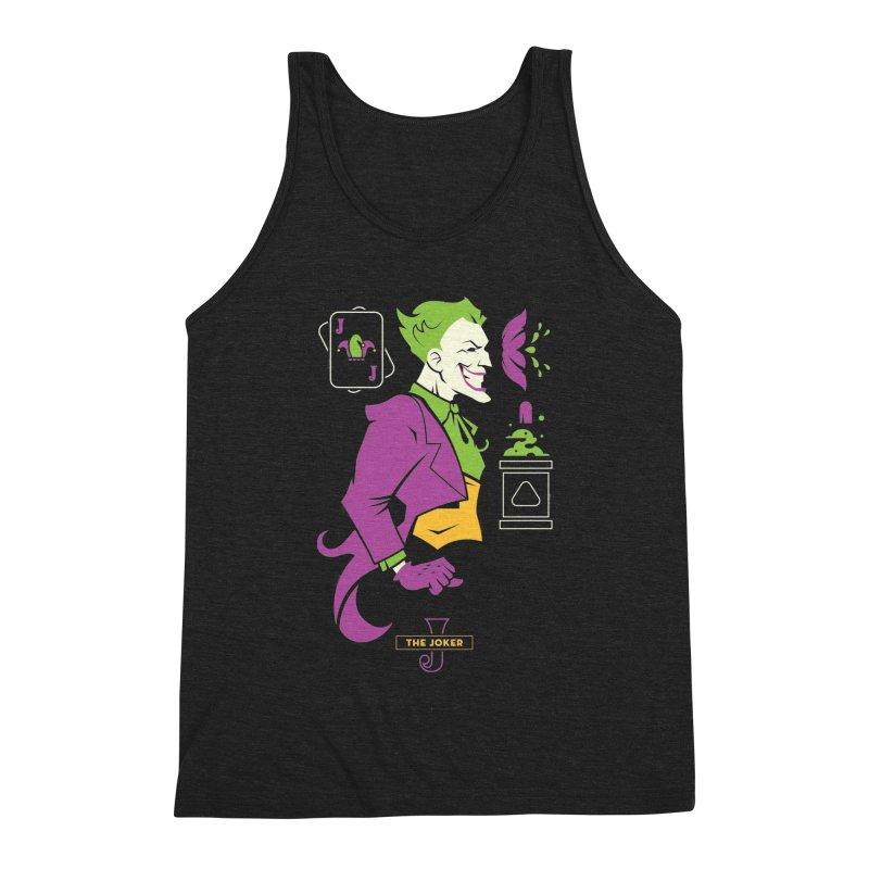 Joker - DC Superhero Profiles Men's Triblend Tank by daab Creative's Artist Shop