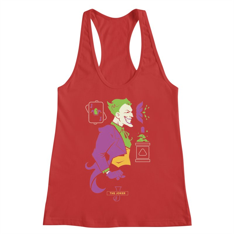 Joker - DC Superhero Profiles Women's Racerback Tank by daab Creative's Artist Shop