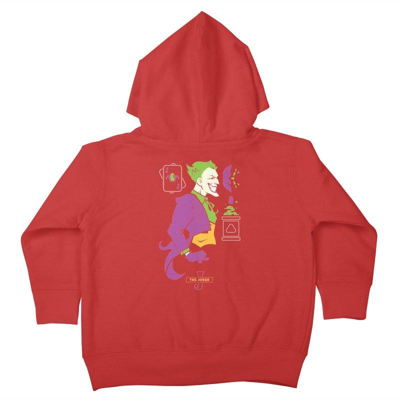 Joker - DC Superhero Profiles Kids Toddler Zip-Up Hoody by daab Creative's Artist Shop