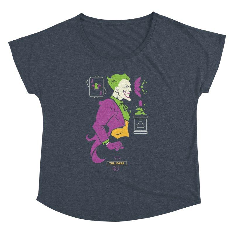Joker - DC Superhero Profiles Women's Dolman Scoop Neck by daab Creative's Artist Shop