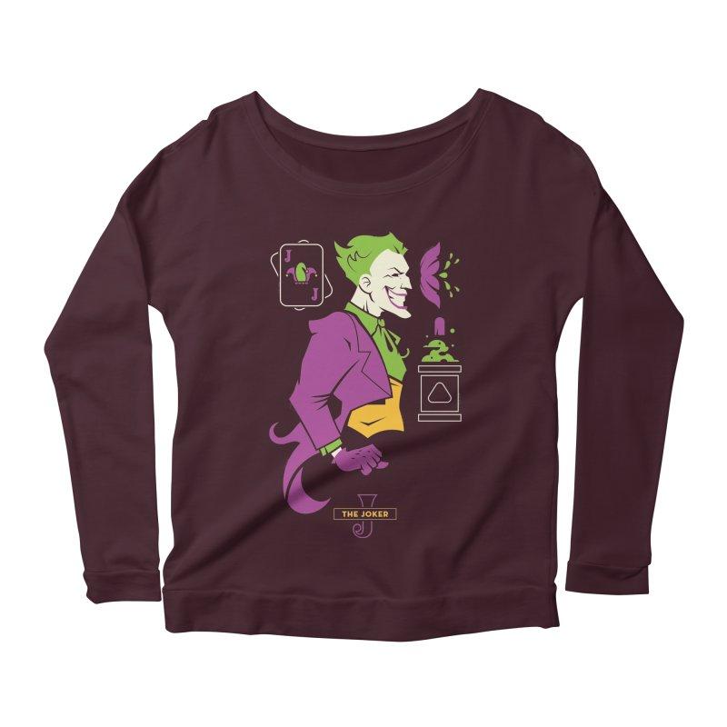 Joker - DC Superhero Profiles Women's Scoop Neck Longsleeve T-Shirt by daab Creative's Artist Shop