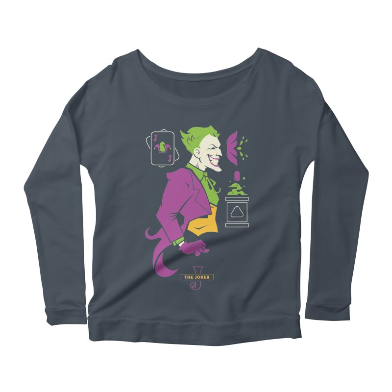 Joker - DC Superhero Profiles Women's Scoop Neck Longsleeve T-Shirt by daab Creative's Artist Shop