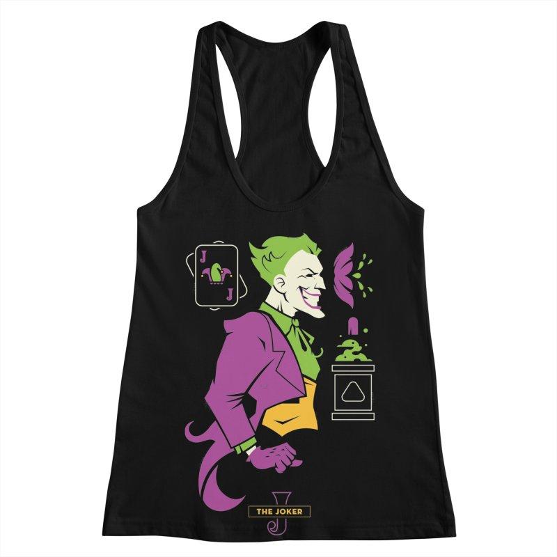 Joker - DC Superhero Profiles Women's Racerback Tank by daab Creative's Artist Shop