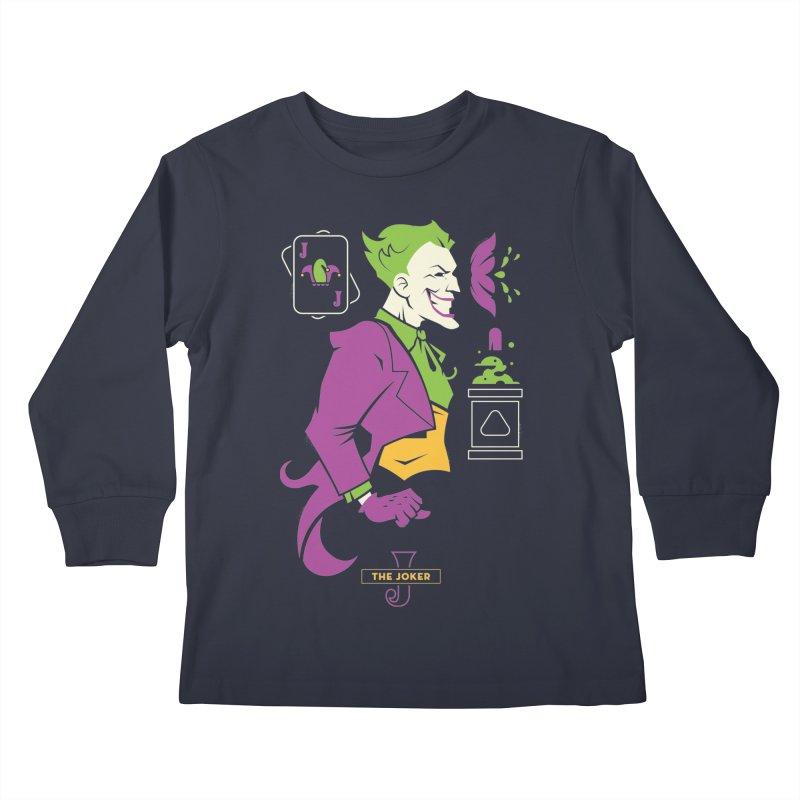 Joker - DC Superhero Profiles Kids Longsleeve T-Shirt by daab Creative's Artist Shop