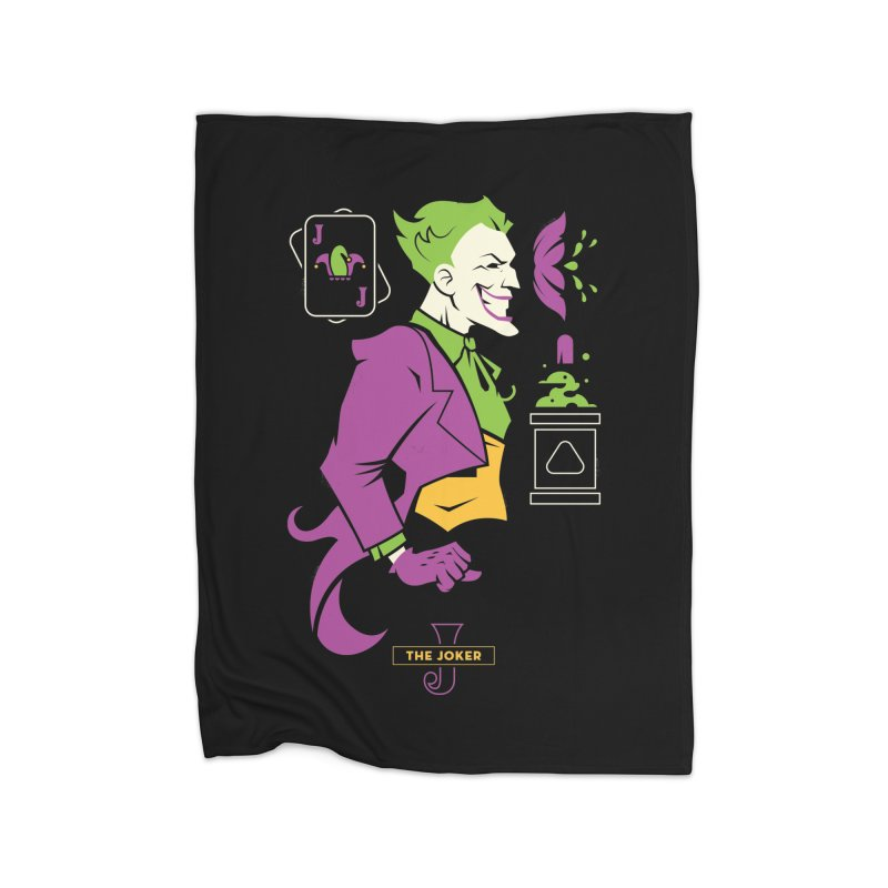 Joker - DC Superhero Profiles Home Fleece Blanket Blanket by daab Creative's Artist Shop