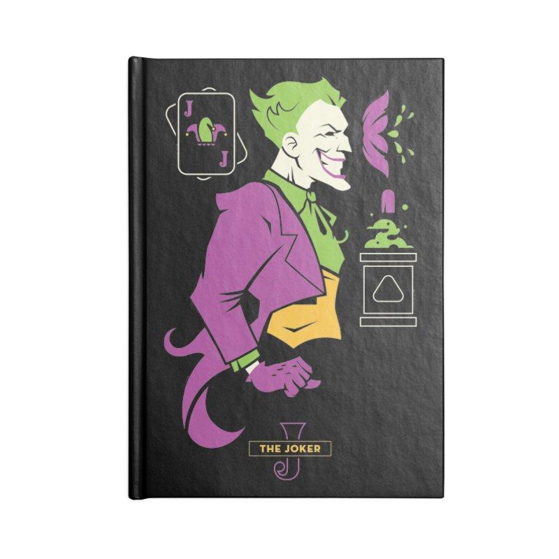 Joker - DC Superhero Profiles Accessories Lined Journal Notebook by daab Creative's Artist Shop
