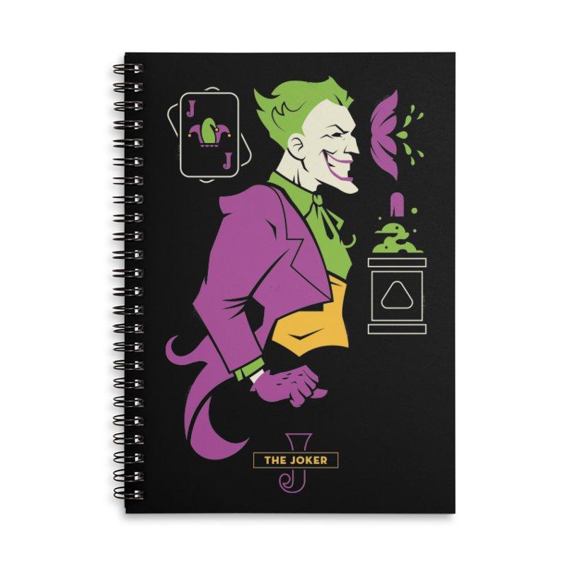Joker - DC Superhero Profiles Accessories Lined Spiral Notebook by daab Creative's Artist Shop