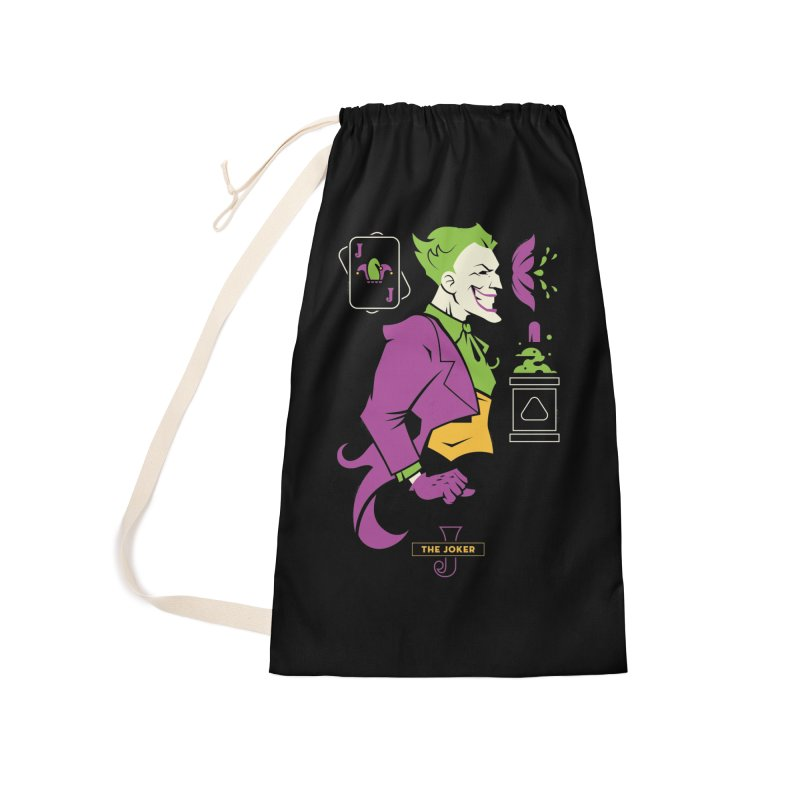 Joker - DC Superhero Profiles Accessories Laundry Bag Bag by daab Creative's Artist Shop