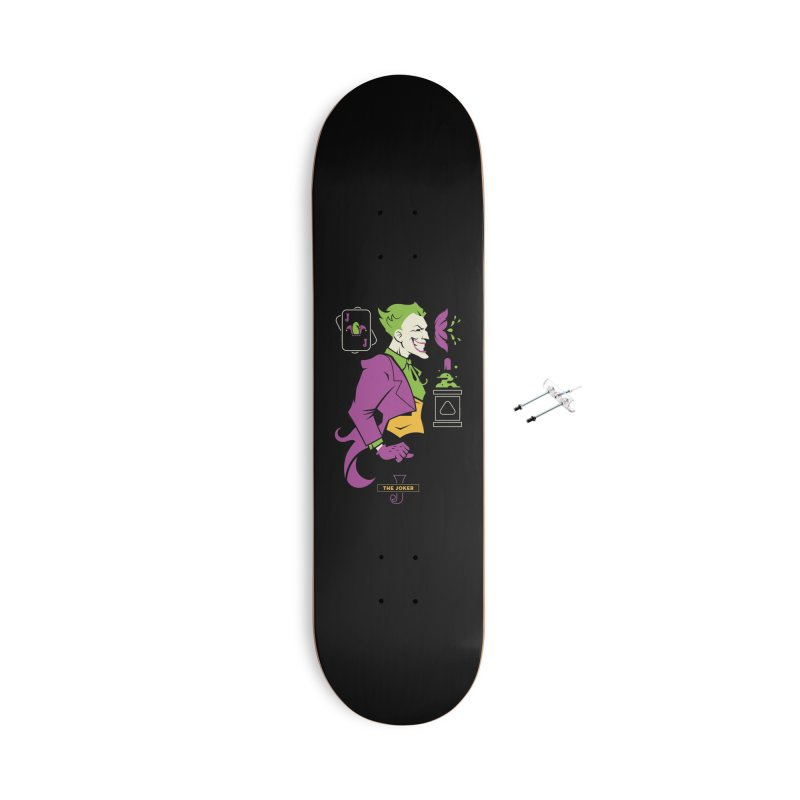Joker - DC Superhero Profiles Accessories With Hanging Hardware Skateboard by daab Creative's Artist Shop