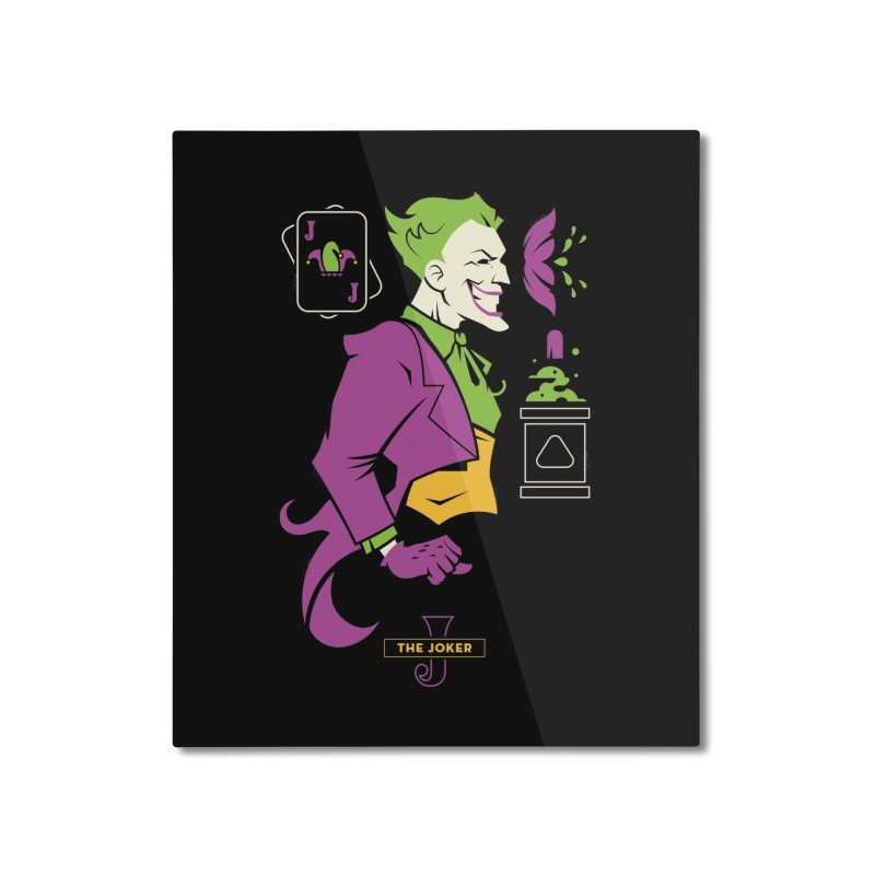 Joker - DC Superhero Profiles Home Mounted Aluminum Print by daab Creative's Artist Shop