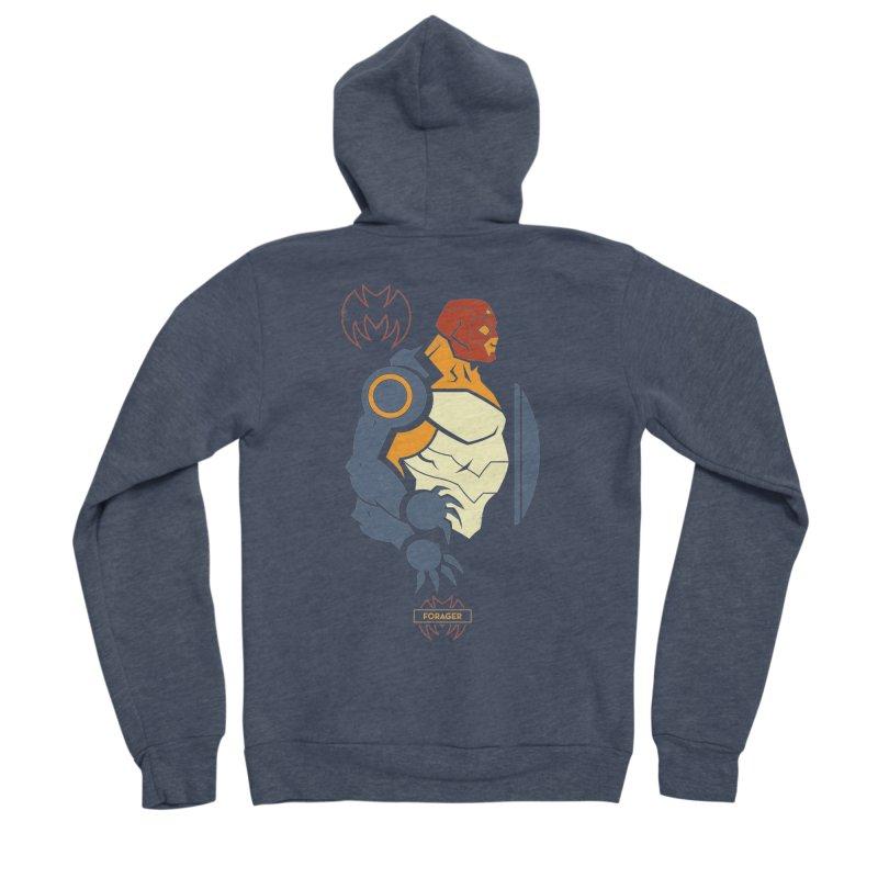 DC Superhero Profiles: Forager - Young Justice Edition Men's Sponge Fleece Zip-Up Hoody by daab Creative's Artist Shop