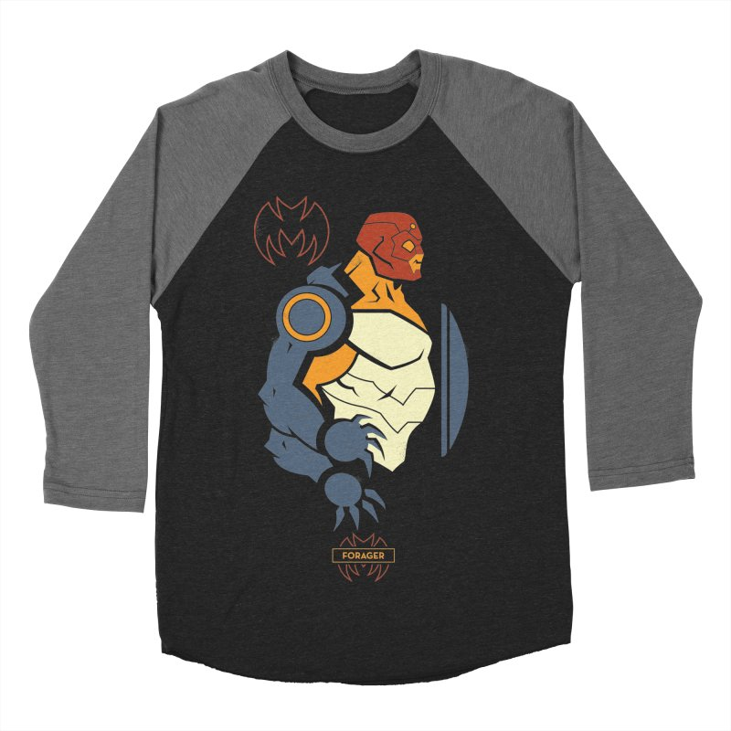 DC Superhero Profiles: Forager - Young Justice Edition Men's Baseball Triblend Longsleeve T-Shirt by daab Creative's Artist Shop