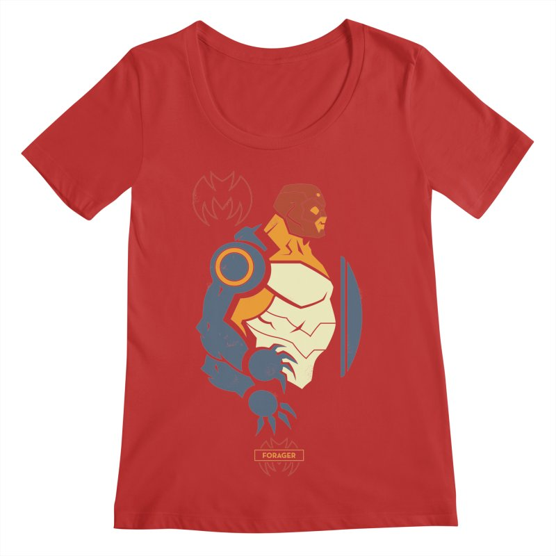 DC Superhero Profiles: Forager - Young Justice Edition Women's Regular Scoop Neck by daab Creative's Artist Shop