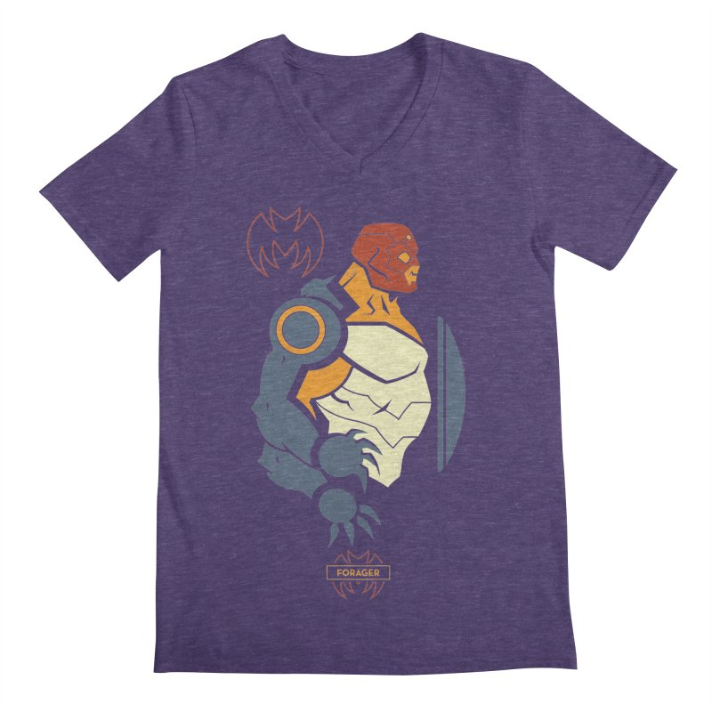 DC Superhero Profiles: Forager - Young Justice Edition Men's Regular V-Neck by daab Creative's Artist Shop