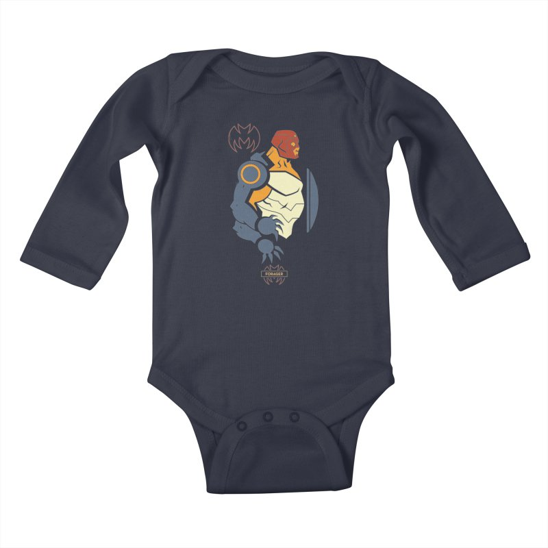 Forager, Young Justice - DC Superhero Profiles Kids Baby Longsleeve Bodysuit by daab Creative's Artist Shop