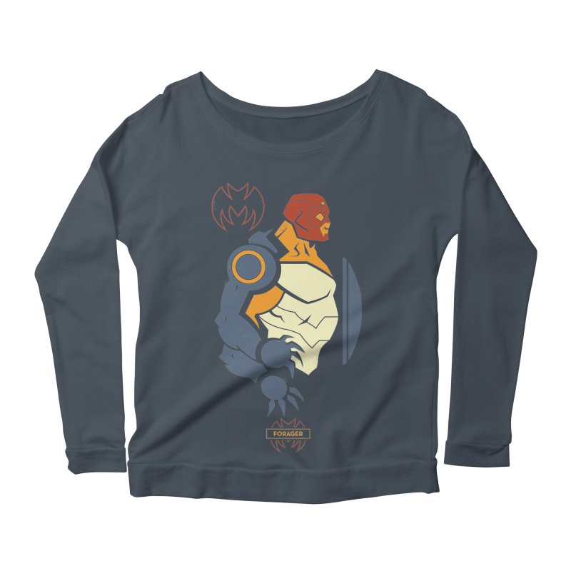 DC Superhero Profiles: Forager - Young Justice Edition Women's Scoop Neck Longsleeve T-Shirt by daab Creative's Artist Shop