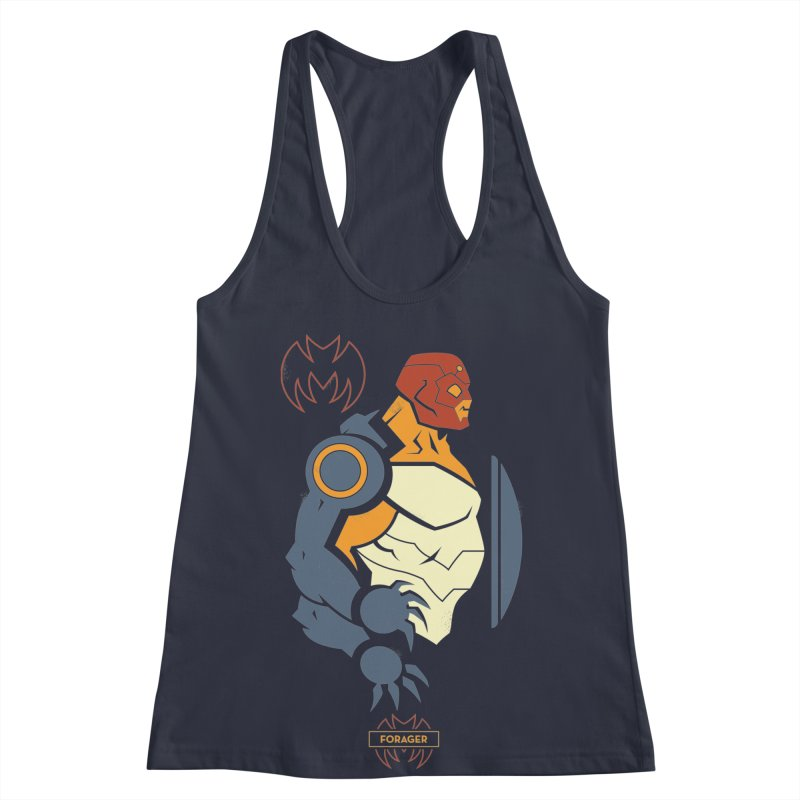 DC Superhero Profiles: Forager - Young Justice Edition Women's Racerback Tank by daab Creative's Artist Shop