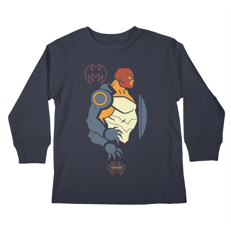 DC Superhero Profiles: Forager - Young Justice Edition Kids Longsleeve T-Shirt by daab Creative's Artist Shop