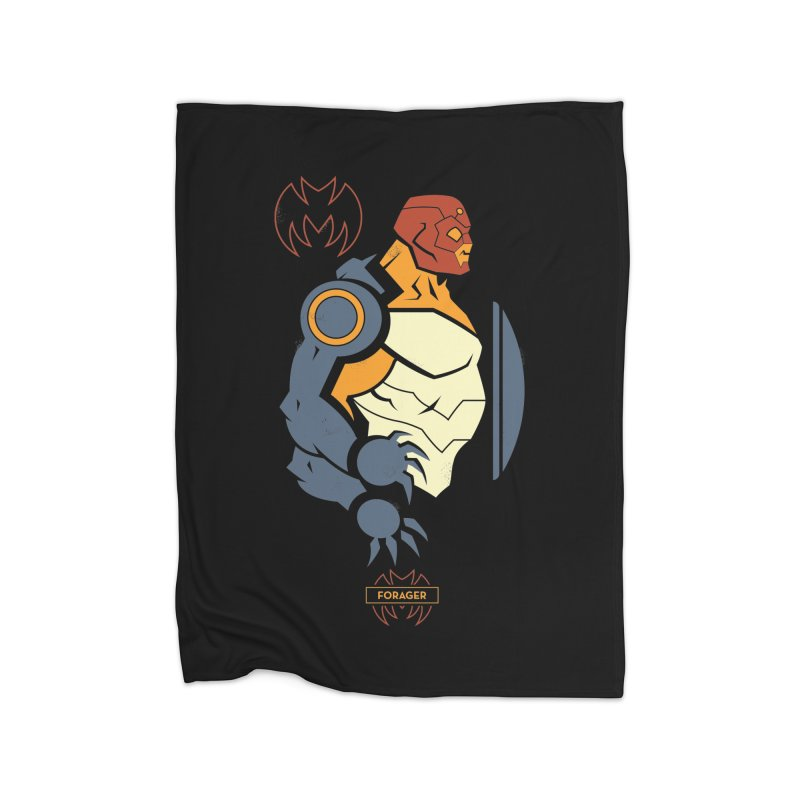 DC Superhero Profiles: Forager - Young Justice Edition Home Fleece Blanket Blanket by daab Creative's Artist Shop