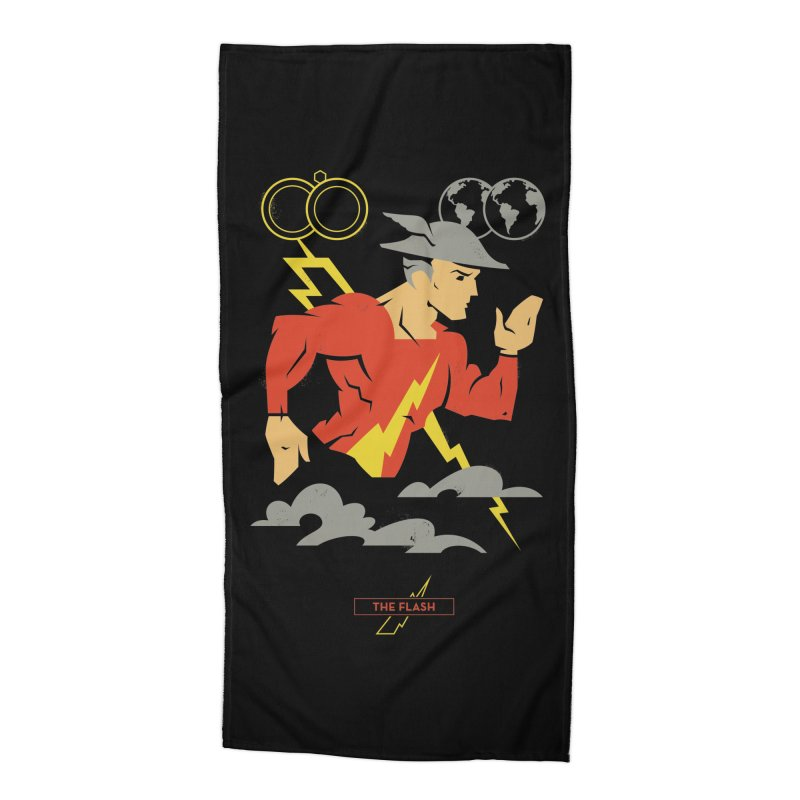 Jay Garrick, The Flash - DC Superhero Profiles Accessories Beach Towel by daab Creative's Artist Shop