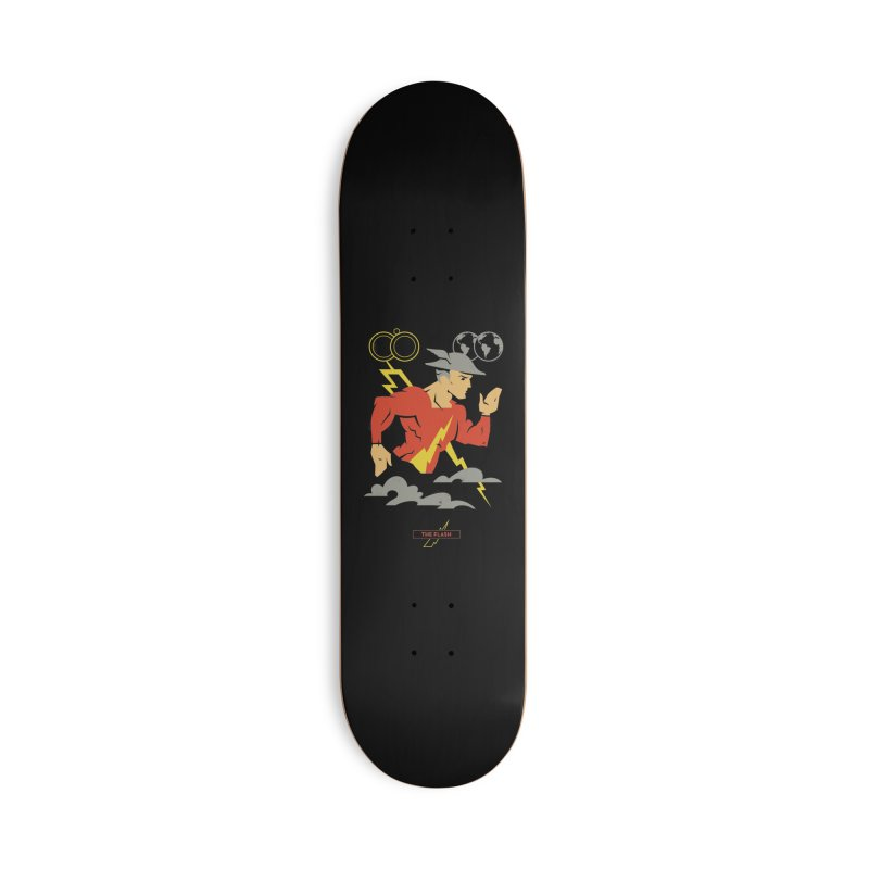 Jay Garrick, The Flash - DC Superhero Profiles Accessories Skateboard by daab Creative's Artist Shop