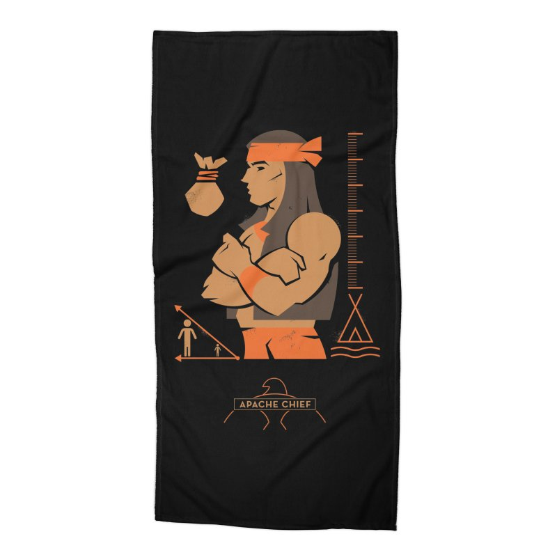 Apache Chief - DC Superhero Profiles Accessories Beach Towel by daab Creative's Artist Shop