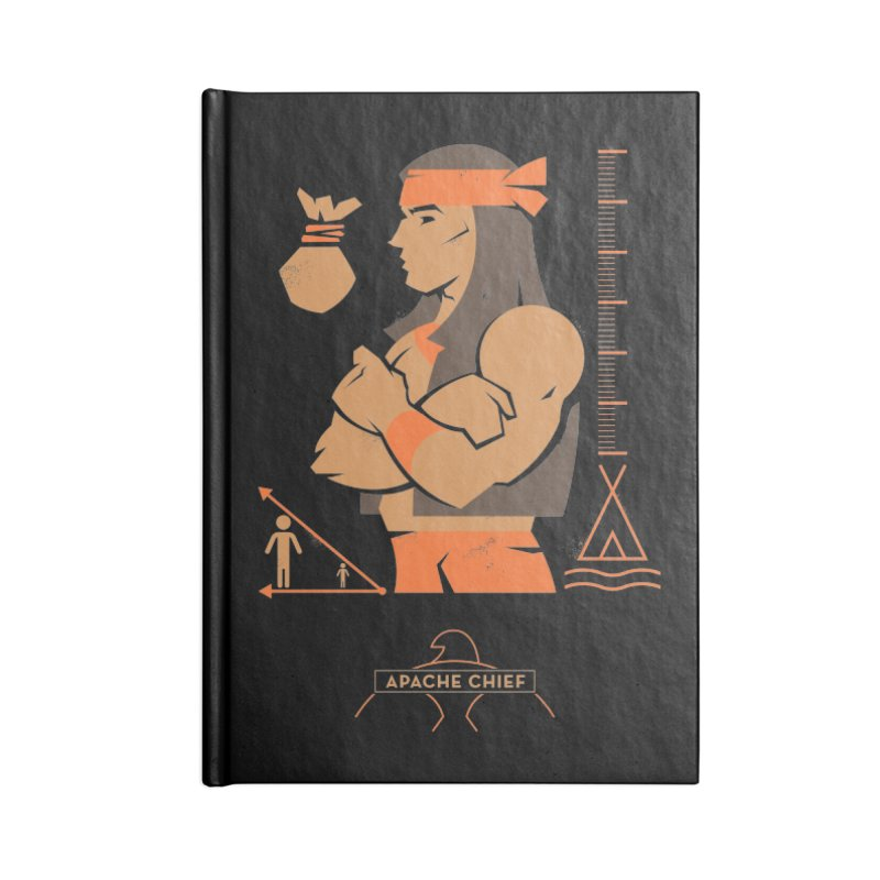 Apache Chief - DC Superhero Profiles Accessories Notebook by daab Creative's Artist Shop