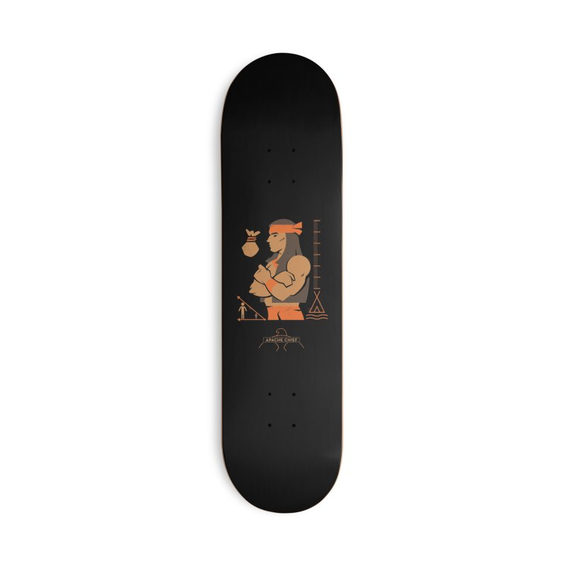 Apache Chief - DC Superhero Profiles Accessories Skateboard by daab Creative's Artist Shop